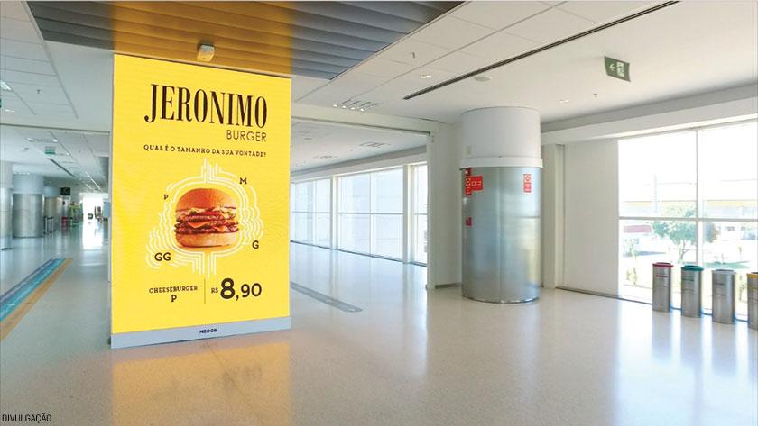 No Aeroporto de Viracopos, em Campinas, foram instalados 25 painéis de LED